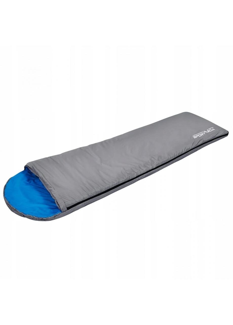 Туристичний спальний мішок спальник для літа в палатку намет літній сірий SportVida (SV-CC0014)