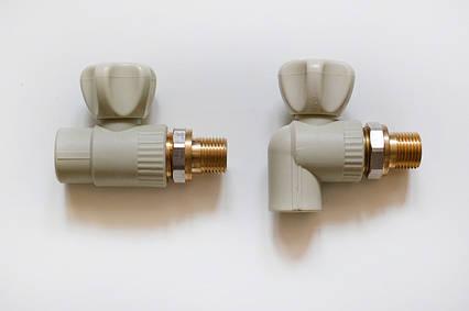Кран радиаторный угловой 25*3/4 (латунный шар)