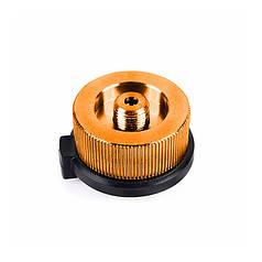 Переходник-адаптер Campleader 3828 Orange с резьбы на цангу для газовой горелки круглый