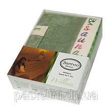 Набір для сауни жіночий Gursan Bamboo,оливковий, 2 предмета бамбук 100%