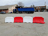 Дорожній бар'єр водоналивний пластиковий 1.2 (м), фото 2