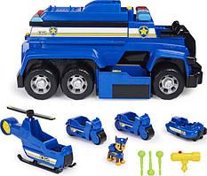 Щенячий патруль Paw Patrol Большой полицейский автомобиль Гонщика 5в1 Chases Ultimate Cruiser Chase Spin