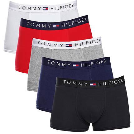 Набір чоловічих трусів Tommy Hilfiger Томмі Хілфігер (5шт.) В подарунковій упаковці Розмір XL, фото 2