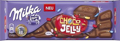 Шоколад молочний Milka Choco Jelly (мілка з желе), 250 гр