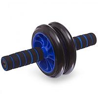 Гімнастичне спортивне фітнес колесо. Тренажер-ролик для м'язів. Double wheel Abs