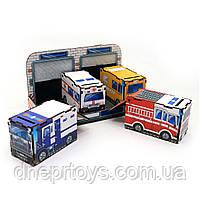 Чарівний комодик «Службовий транспорт», дерев'яна іграшка, Ань-Янь, 12 * 23 * 12 см, від 3 років, (ПСФ027), фото 2