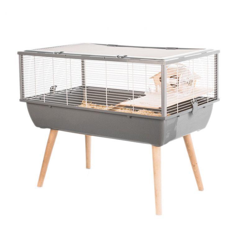 Клетка для мелких грызунов, 1 этаж, серый цвет