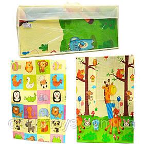 Игровой складной двухсторонний детский коврик в сумке, 120 смх180 см (46007)