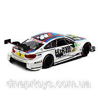 Іграшкова машинка металева «BMW M4 DTM», Автопром, біла, від 3 років, 5х20х8 см, (68256), фото 3
