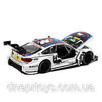 Іграшкова машинка металева «BMW M4 DTM», Автопром, біла, від 3 років, 5х20х8 см, (68256), фото 4