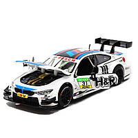 Игрушечная машинка металлическая «BMW M4 DTM», Автопром, белая, от 3 лет, 5*20*8 см, (68256), фото 5