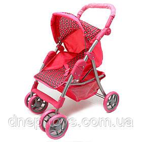Коляска-трансформер для кукол 2в1 «Кружочек» Melogo, корзина для вещей, розовый, 60*30*55 см, (9352/011)