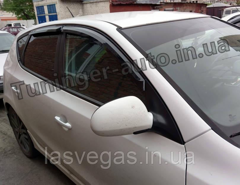 Дефлекторы окон (ветровики) Hyundai i30 HB 2007-2012 (Autoclover A102)