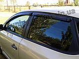 Дефлектори вікон (вітровики) Hyundai i30 HB 2007-2012 (Autoclover A102), фото 3