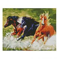 Алмазная мозаика Strateg FA11098 «Дикие лошади» 40х50 см