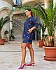Жіноча легка літня туніка з хлопкової тканини, великі розміри, від 48 до 58, фото 2