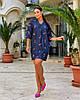 Жіноча легка літня туніка з хлопкової тканини, великі розміри, від 48 до 58, фото 5