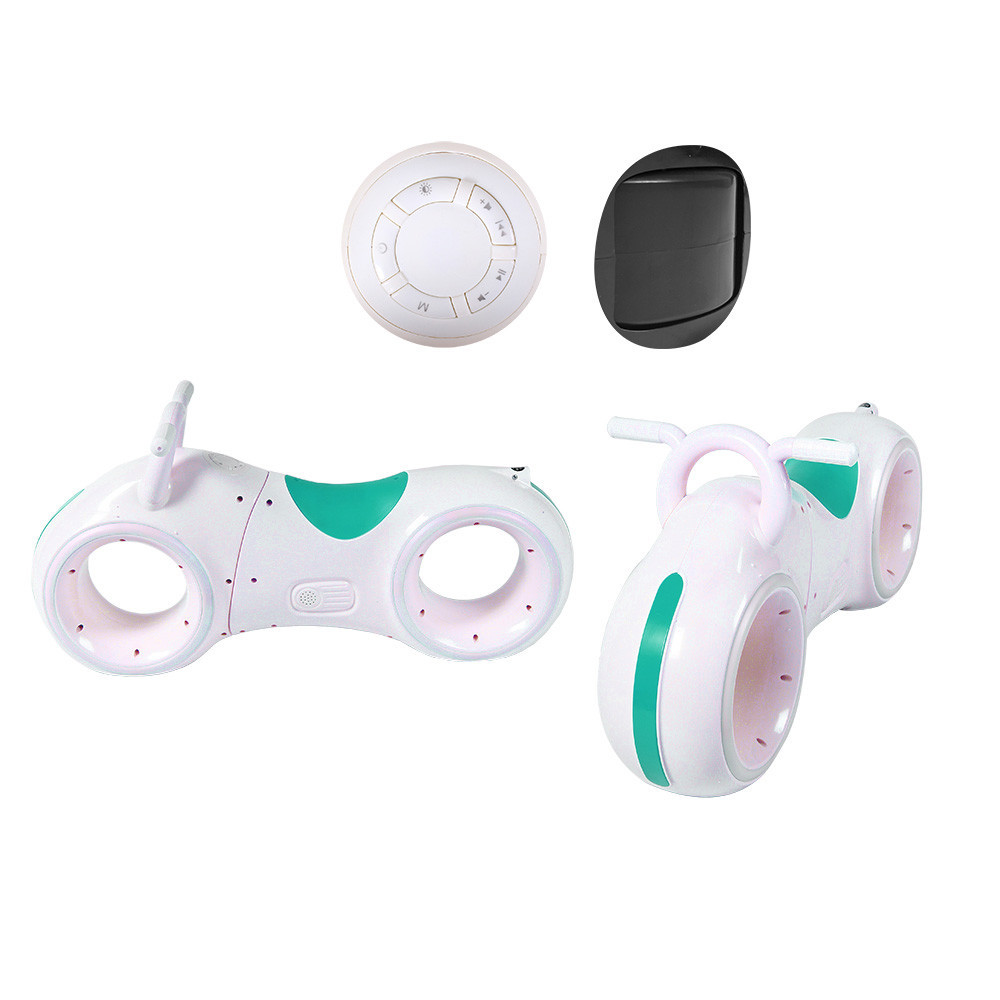 Беговел GS-0020 White/Green Bluetooth LED-подсветка