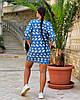 Женская легкая летняя туника из хлопковой ткани, большие размеры,  от 48 до 58, фото 4