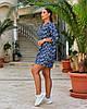 Женская легкая летняя туника из хлопковой ткани, большие размеры,  от 48 до 58, фото 3