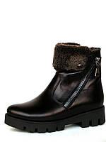 """Зимние женские ботинки """"Трансформер"""" на плоской тракторной подошве, фото 1"""