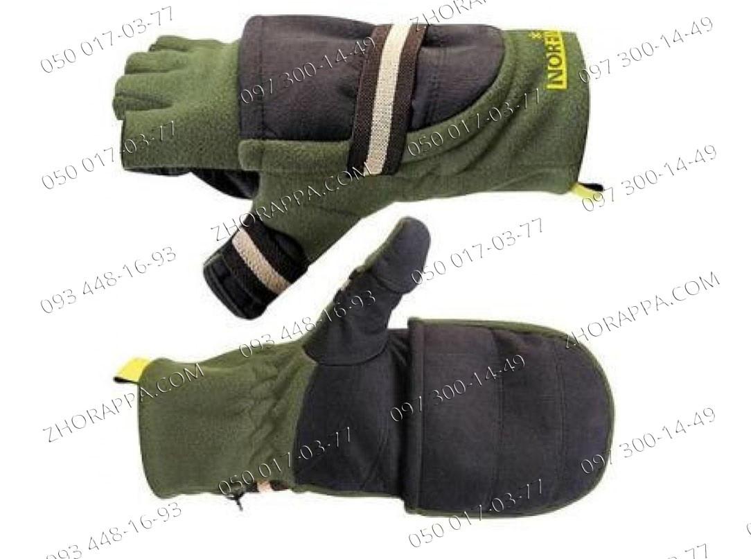 Теплые перчатки-варежки Norfin 703080 Зимние, удобные и практичные перчатки Надежный подарок мужчине