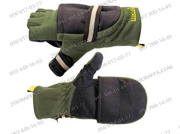 Теплые перчатки-варежки Norfin 703080 Зимние, удобные и практичные перчатки Надежный подарок мужчине, фото 2