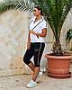 Жіночий літній повсякденний костюм спортивного стилю з трикотажу, фото 3