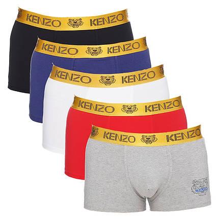 Набор мужских трусов боксеров Kenzo Кензо (5шт.) в поодарочной коробке Размер L, фото 2