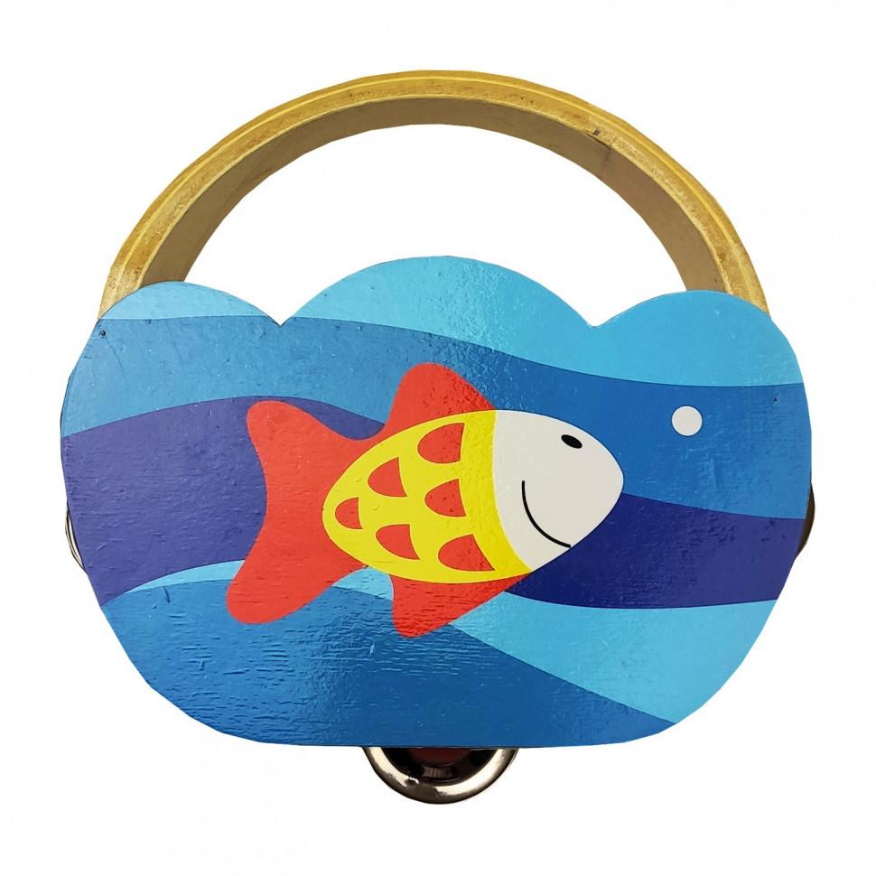 Деревянная игрушка Бубен Metr+ MD 2477 (Рыбка)