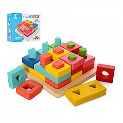 Деревянная игрушка Геометрика Limo Toy MD 2345