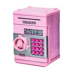Дитячий сейф-скарбничка Metr+ 1511ST (Рожевий)