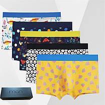 Набор веселых цветных трусов боксеров Man Underwear (5шт.) хлопок Размер M, фото 2