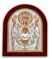 Икона Неупиваемая Чаша Серебряная с позолотой Silver Axion (Греция)  200 х 250 мм