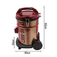 Вакуумный контейнерный пылесос Haeger HG-6667 для дома с контейнером для сухой уборки, фото 3