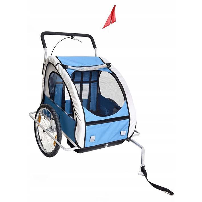 Велопричіп двомісний Jogger Blue