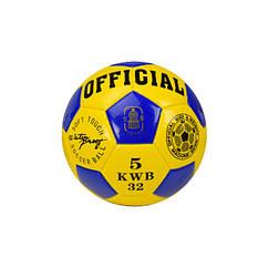 Мяч футбольный Metr+ B26114 21,8 см 230 г. (Желто-синий)