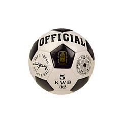 Мяч футбольный Metr+ B26114 21,8 см 230 г. (Черный)