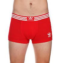 Набір чоловічих трусів боксерів Adidas (5шт) в подарунковій коробці бавовна Розмір L, фото 3