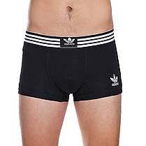 Набір чоловічих трусів боксерів Adidas (5шт) в подарунковій коробці бавовна Розмір 2XL, фото 2