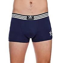 Набір чоловічих трусів боксерів Adidas (5шт) в подарунковій коробці бавовна Розмір 2XL, фото 3