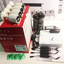 Комплект видеонаблюдения HD-TVI 4-х канальный 1080p DS-J142I/7104HGHI-SH