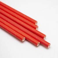 Паперова ЕКО трубочка червона d9 20см(250шт/уп) (10уп/ящ)