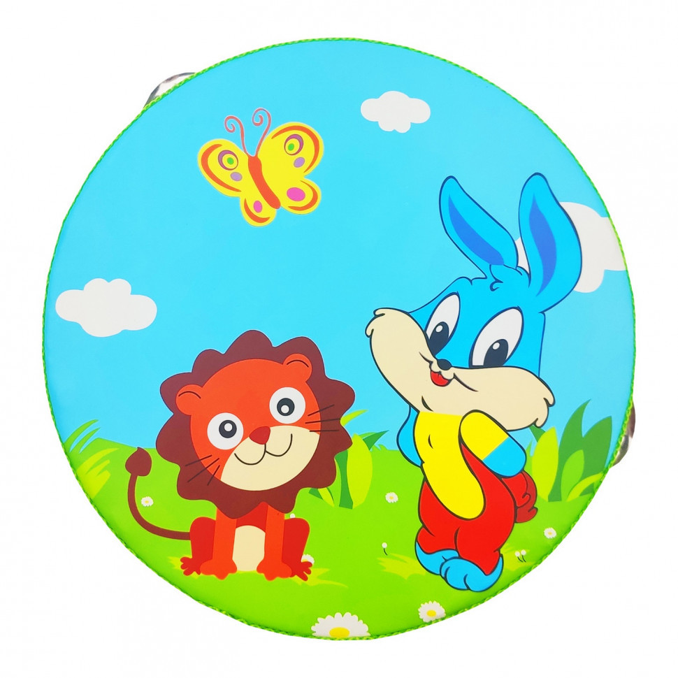 Деревянная игрушка Бубен Metr+ MD 0367 (Кролик и Лев)