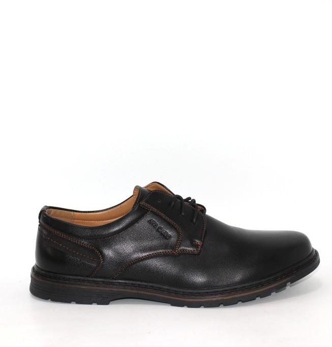 Черные мужские туфли на шнуровке. Черные мужские туфли полуботинки
