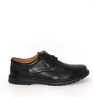 Черные мужские туфли на шнуровке. Черные мужские туфли полуботинки, фото 1