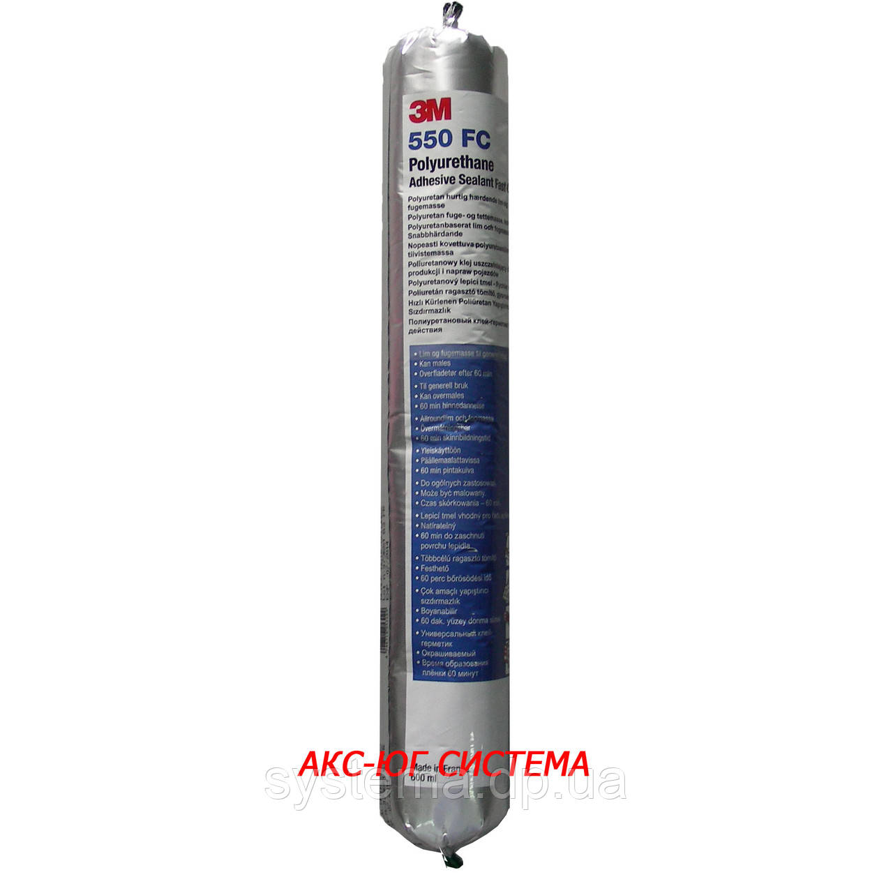 3M™550 FC - Полиуретановый клей-герметик, серый, 600 мл