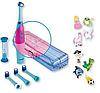 Електрична зубна щітка дитяча Nevadent NKZ 3 A1 + пісочний годинник + насадки + футляр + наклейки, фото 2