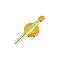 Клапан для газового пальника Campleader З-10 Gold з довгою головкою плоский регулює