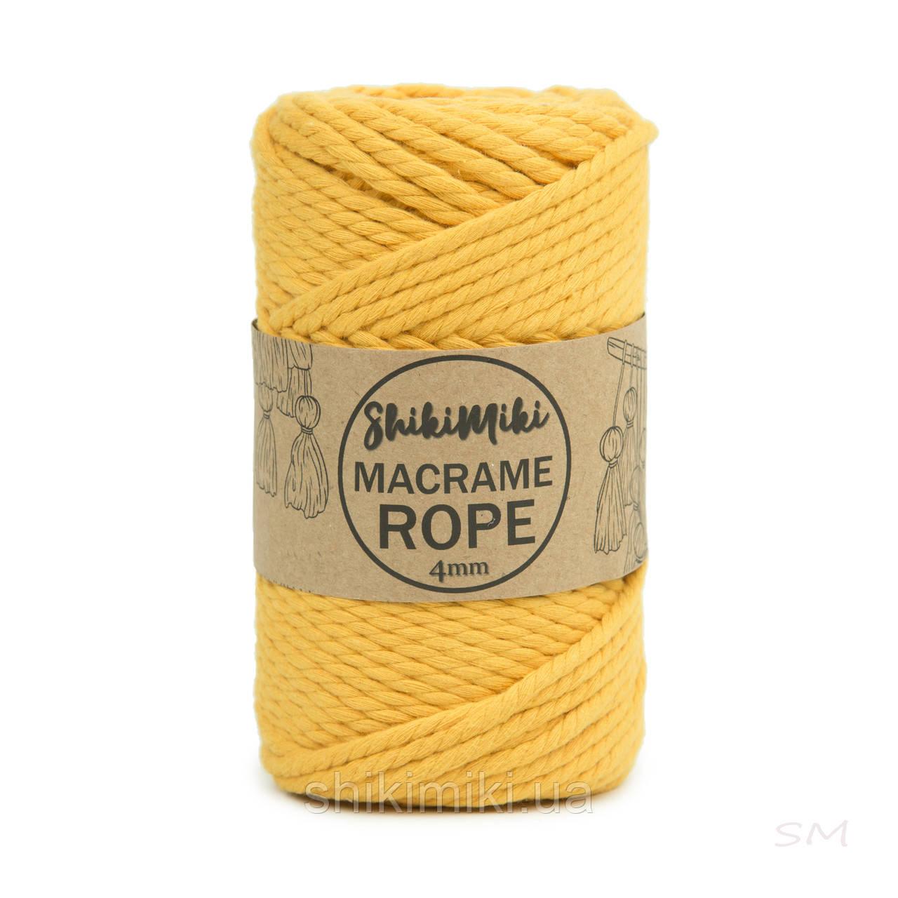 Эко шнур Macrame Rope 4mm, цвет Светлая горчица